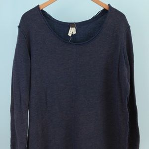 Free People Blue Open Pullover